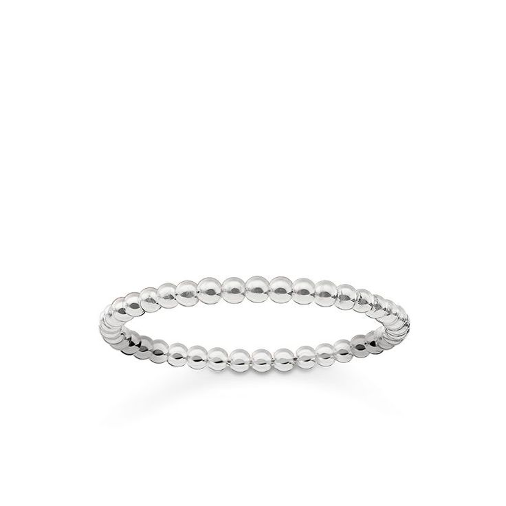 THOMAS SABO ring from the Sterling Silver Collection. - Emotive classic - Sleek elegance - Cord look Delicate Dots ring crafted from Sterling silver – to this very day, this classic is considered a unique token of love. [Artikeltabelle]Category:ring Material:925 sterling silver Measurements:Width approx. 0,2 cm (0,08 Inch) Itemnumber:TR2122-001-12[/Artikeltabelle]