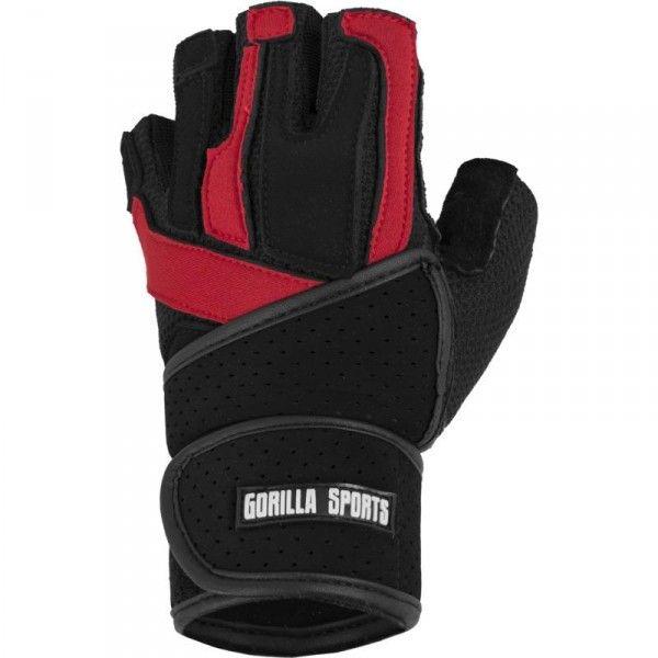Gorillasports treenihanskat rannetuella, 24,95 €. Laadukkaat nahkaiset treenihanskat rannetuella, jotka suojaavat kätesi ja tukevat ranteitasi. Hanskoilla voit keskittyä pelkästään treenaamiseen. Joustava ja hengittävä materiaali varmistavat etteivät painot tipahda käsistäsi ja pitävät kätesi kuivina. Koot: S – XL. #treenihanskat