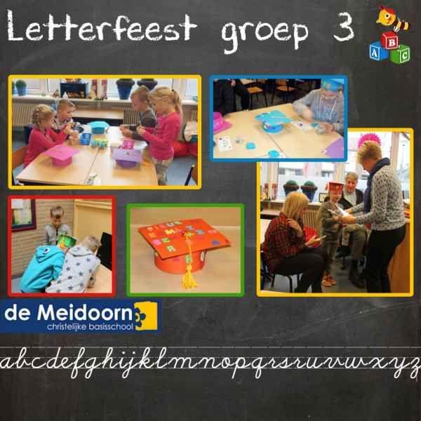 Groep 3 CBS De Meidoorn viert letterfeest