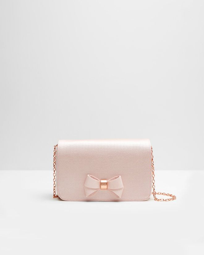 fce402c3f74a8 Bow detail clutch bag - Baby Pink