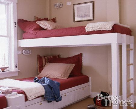 17 best images about bunk beds on pinterest loft beds for Cute bunk bed rooms