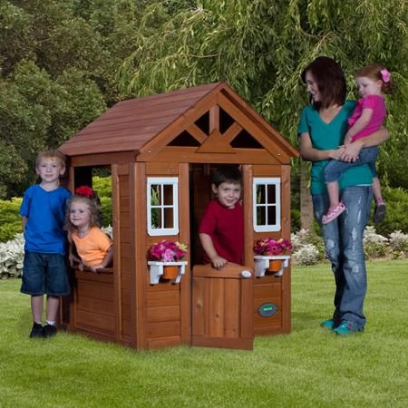 Backyard Discovery Timberlake Cedar Wooden Playhouse - $168 at Walmart