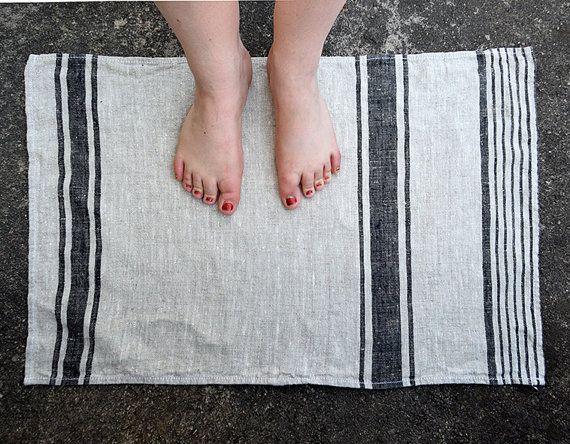 PURE linnen SAUNA bevlekken-zeem. Badmat linnen. Bad/Sauna Rug biologisch linnen doek