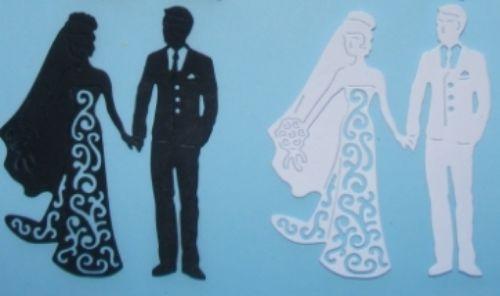 LACY BRIDE AND GROOM DIE CUTS in Crafts, Cardmaking & Scrapbooking, Die-Cut Shapes & Punchies | eBay
