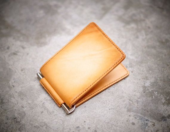 Money Clip  Mini Wallet by GMleathercraft on Etsy