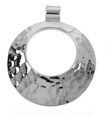 Tianguis Jackson Silver Circular Plannished Pendant