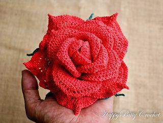 Large Centerpiece Rose Crochet Pattern
