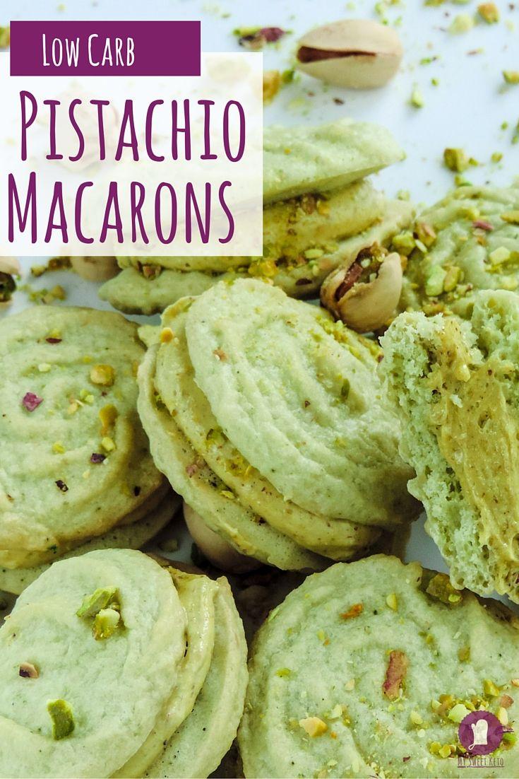 Low Carb Pistachio Macarons Recipe Pistachios Other