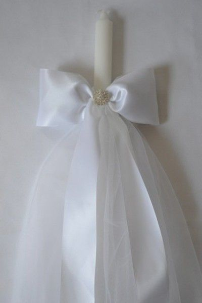 White Satin Lambatha with Tulle Skirt, $219.00 at the Greek Wedding Shop ~ http://www.greekweddingshop.com/