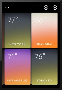 Weather app that's pretty + functional.