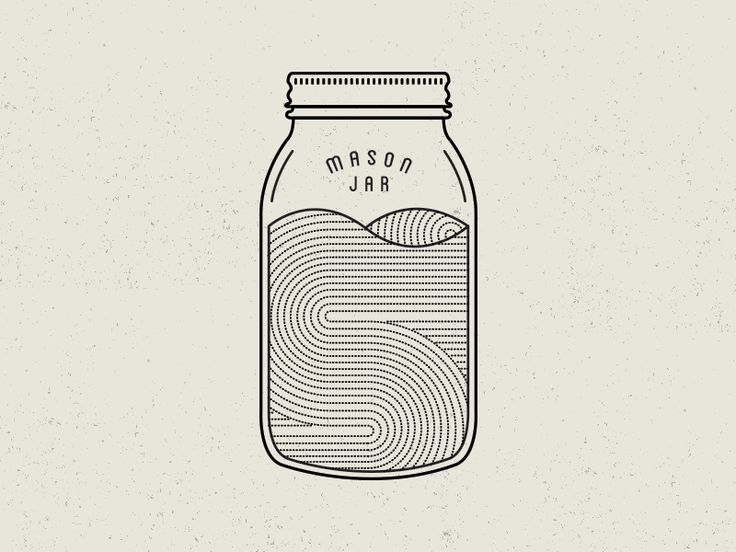 like intricacy of illustration in jar