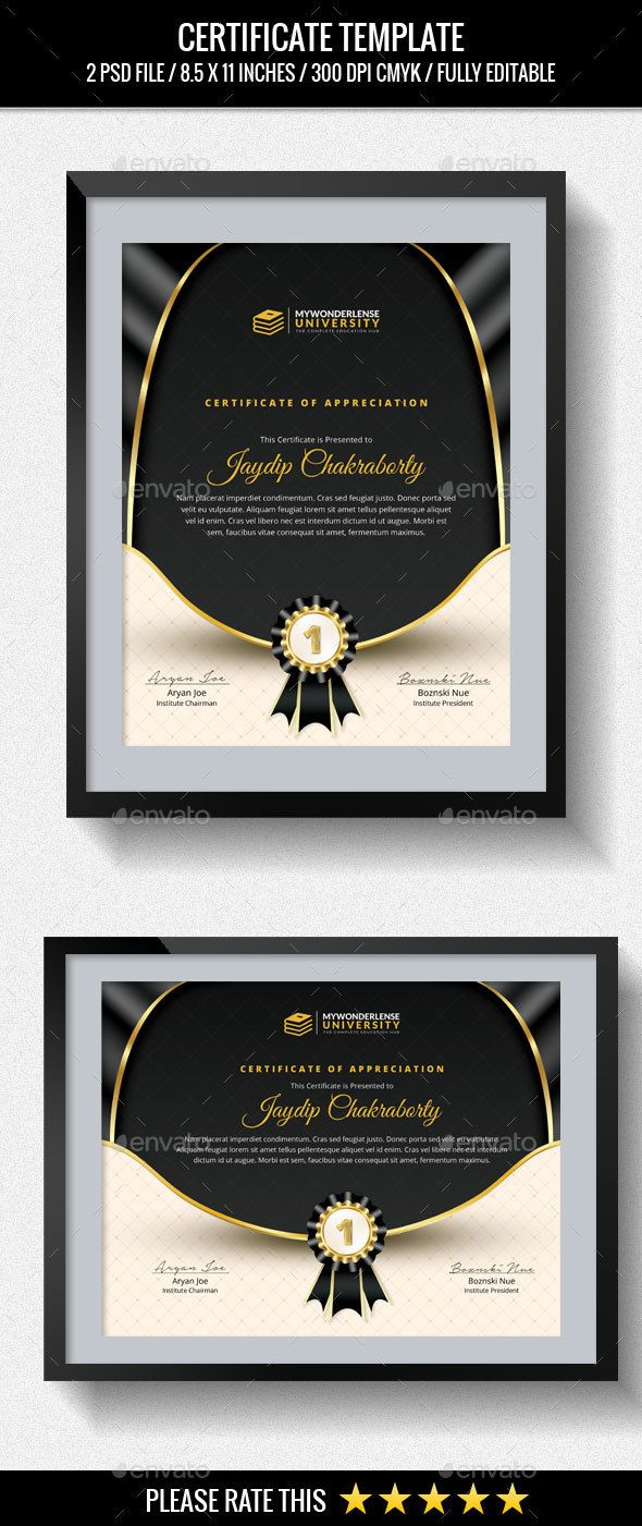 297 best Certificate Templates images on Pinterest | Certificate ...