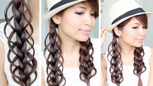 how to do cute feather loop braid hairstyle for summer step by step diy tutorial instructions x  #hair #hairstyles