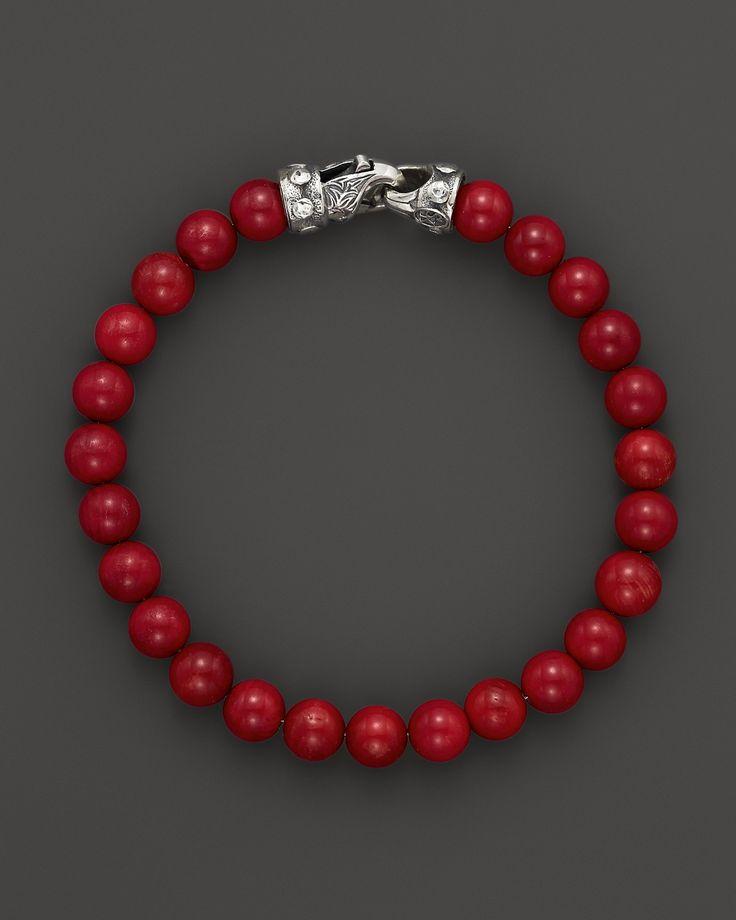 Scott Kay Men's Red Tigerseye Bead Bracelet | Bloomingdale's