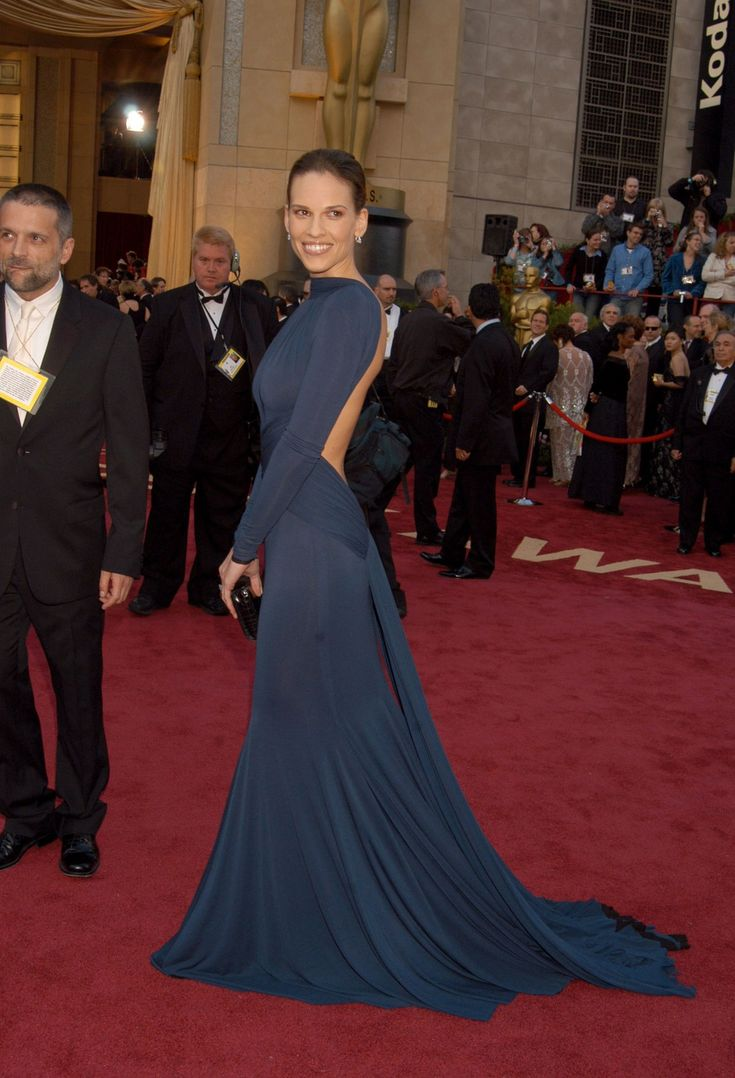 Hilary Swank won Best Actress for her work in Million Dollar Baby at the 2005 Oscars—but her chic backless dress from Paris designer Guy Laroche was about as far from the boxing ring as a look could get.