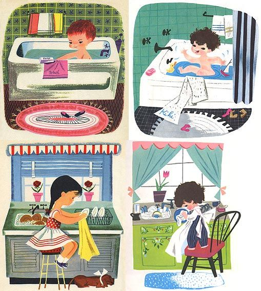 Comparisons of Art Seiden's and Mary Blair's illustrations.  I think they are both wonderful artists.