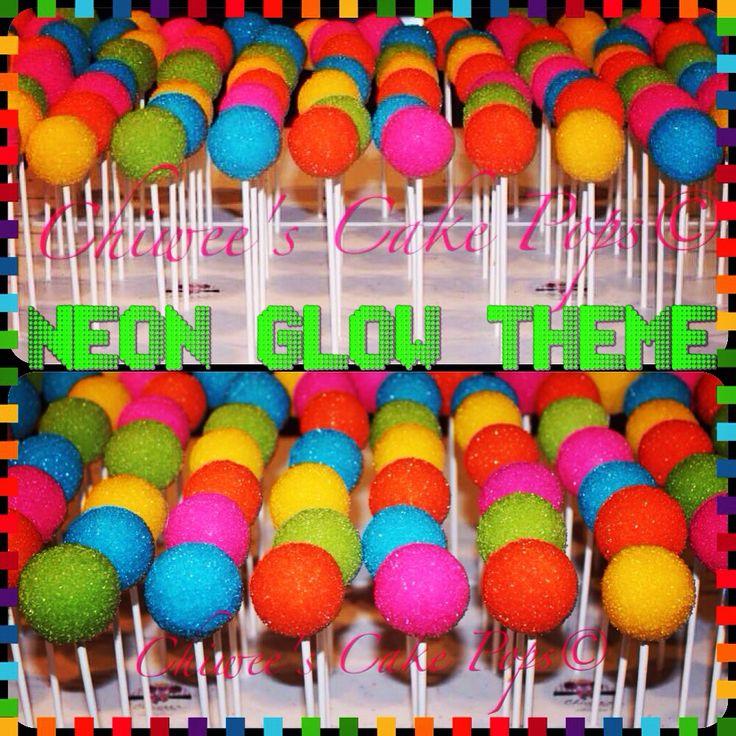Neon glow cake pops