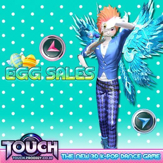 Sweet and Wheat Sales kembali hadir ~ untuk para T-Dancer yang sudah ga sabar untuk membuat sayap FALLEN ANGEL, sekaranglah saatnya .. karena bahan yang dibutuhkan ada di 2 egg ini ! jangan sampai ketinggalan yaaa ~ http://touch.prodigy.co.id/sweet-and-wheat-sales-2/ #prodigyinfinitech #touch #online #indonesia #games #dance #musik #music #R&b #webbased #webbrowser #teman #sahabat #pacar #couple #love #cinta
