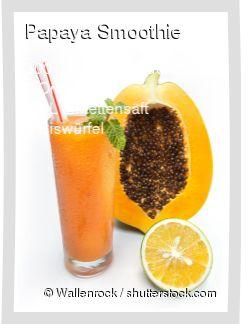 Leckeres Papaya Smoothie Rezept mit einfacher Schritt-für-Schritt-Anleitung: Orangen schälen und Fruchtfleisch entnehmen , Im Mixer alles pürieren...