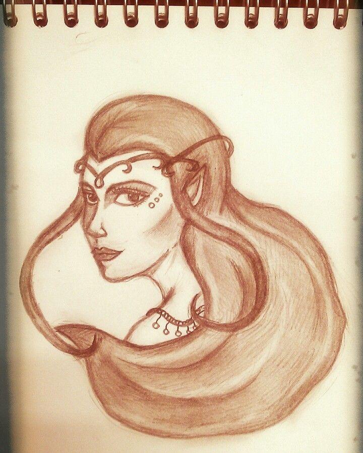 Тауриэль для Кили #myart #tauriel #thehobbit #sketch