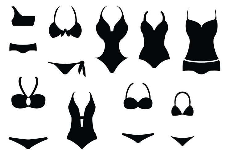 Free svg files of bathing suits