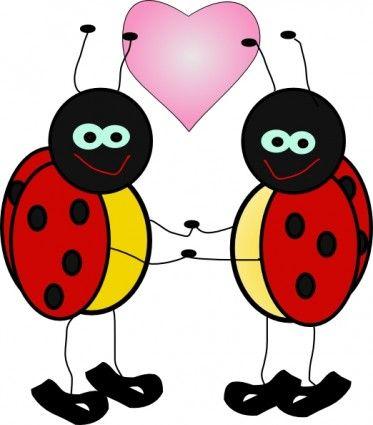 Ladybugs Cartoon clip art