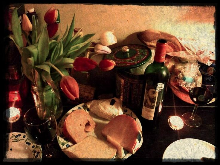 Tulips, wine and cheese!