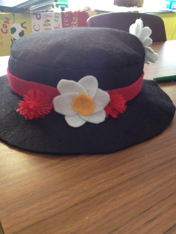 Diy Mary poppins felt hat