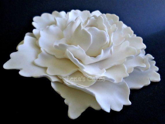 Xxl Gumpaste Flower Fondant Peony Edible Flower Sugar Flower Sugar Flowers Cake Sugar Flowers Elegant Wedding Cake Toppers
