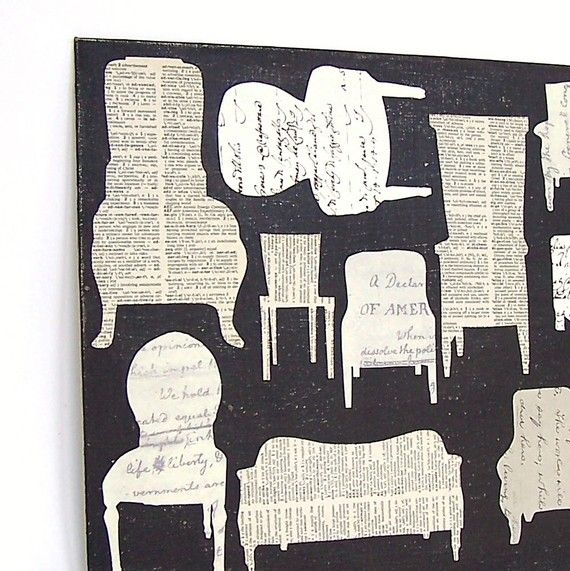 newspaper silhouette art- This would be so cool to have a found/ink poetry project using a certain silhouette. Maybe with identity unit and poem must be focused on the poet.