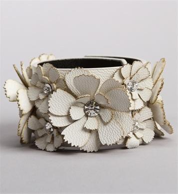 Stone Flower Cut Out Cuff