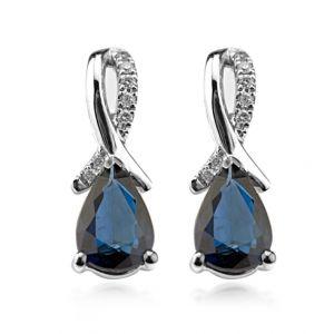Cercei cu safire si diamante C465