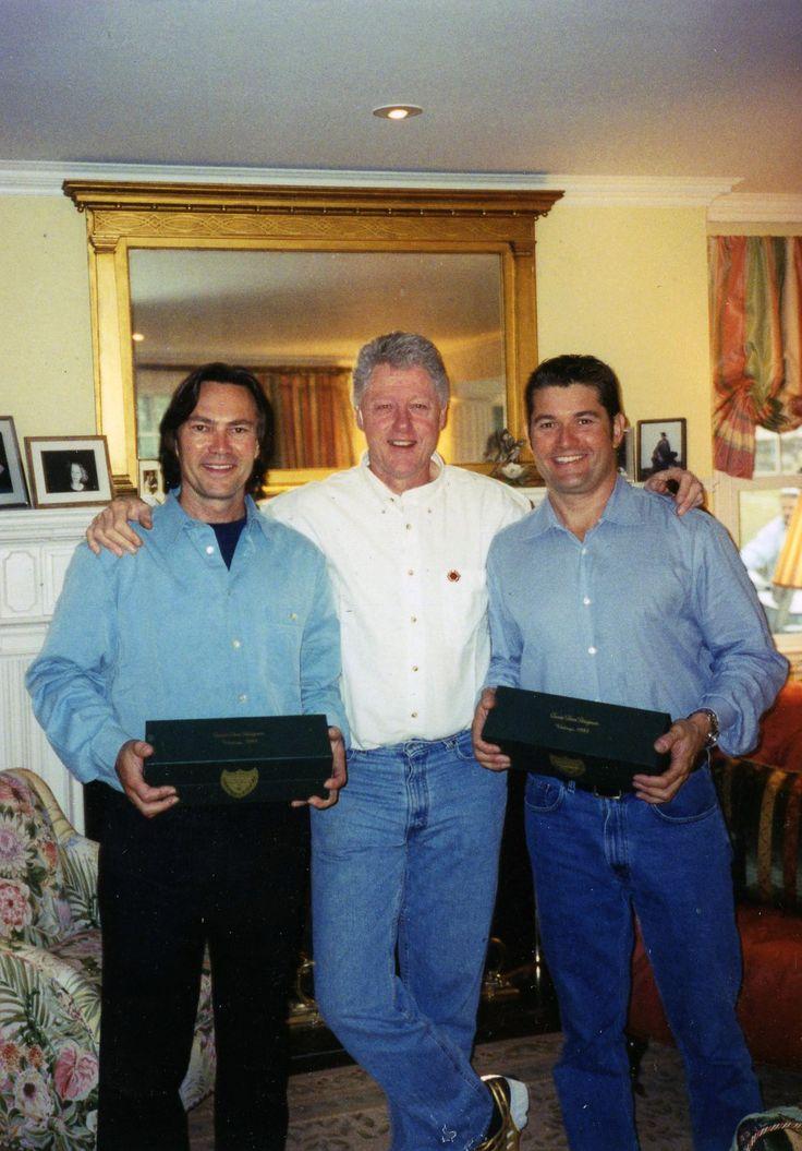 Rob Brown President Bill Clinton And Todd Davis At Home