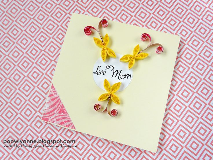 For my mother, for my mother... . Handmade card.   #handmade #quilling #cardmaking #mothersday #kartka #dzienmatki
