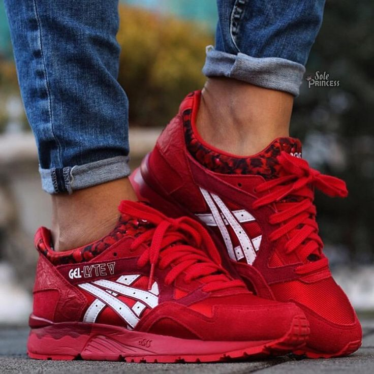 tênis asics gel lyte v red/white