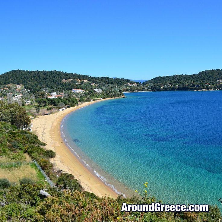 The beautiful beach of Agia Paraskevi on the island of Skiathos #Skiathos #Greece #AgiaParaskevi #GreekIslands #Sporades #AroundGreece #VisitGreece #holidays #tourism #vacations #travel #beaches #sea #Σκιαθος #Ελλαδα #ταξιδι #διακοπες