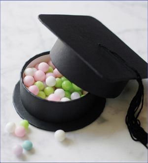 graduation hat favor box