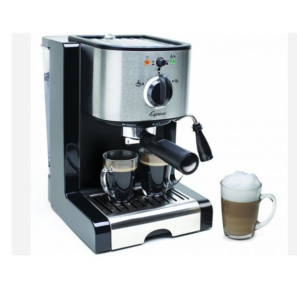 Perfect the art of brewing espresso with the new EC100 pump espresso and cappuccino machine. Create new and delicious gourmet coffee beverages quickly and easily with the stainless steel lined ThermoB