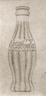 Earl R. Dean's original 1915 concept drawing of the contour Coca-Cola bottle.