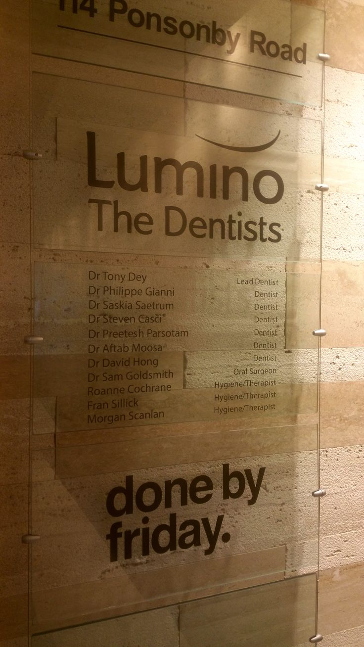 Cut vinyl graphics for Lumino the Dentists by Speedy Signs Newton