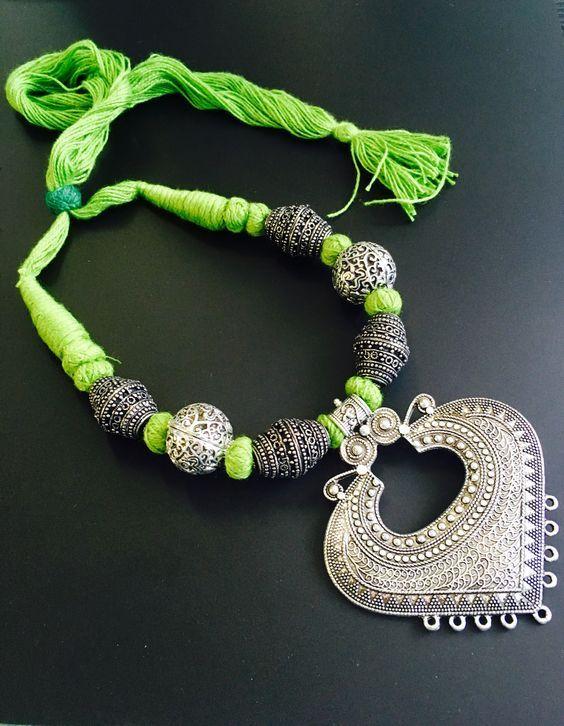 Pin By Priya Maurya On Jewellery Silk Thread Necklace