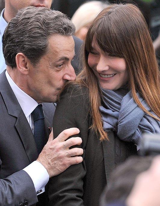 former President Nicolas Sarkozy with Carla Bruni