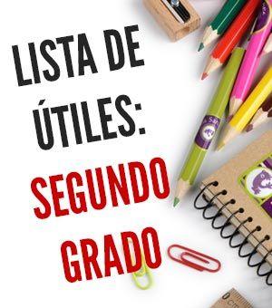 Lista de útiles escolares de segundo grado (2do grado)