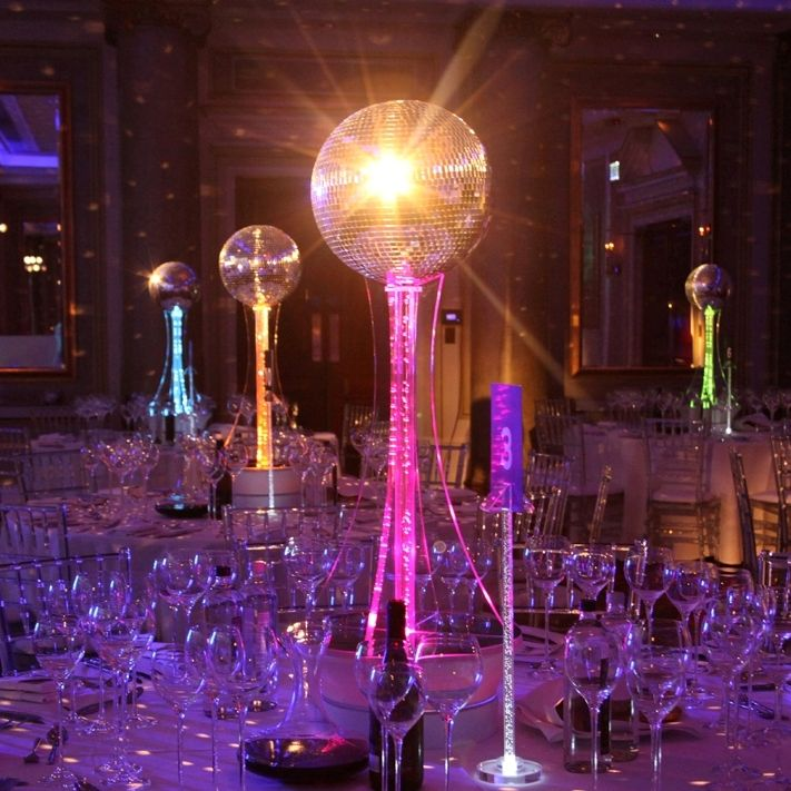 Centrepieces for weddings banquets receptions and party for 70s decoration
