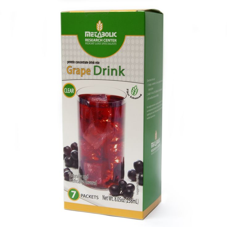 Grape Protein Drink | Metabolic Research Center | 15g protein per serving #weightloss #diet #healthy #health #healthyliving #nutrition #drink #protein #grape Buy Online Today for only $13