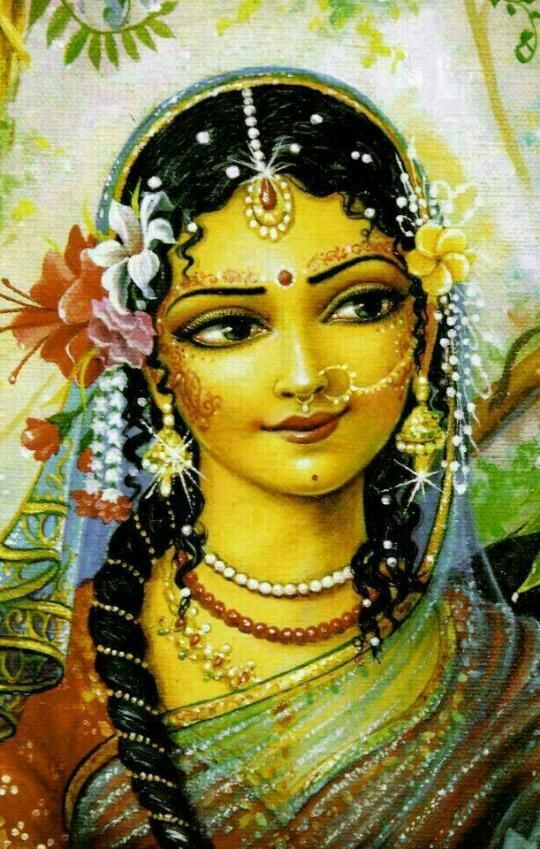 """"""" O Shri Radhe, I offer my respects to You whose bodily complexion is like molten gold. O Goddess, You are the queen of Vrindavaan. You are the daughter of King Vrishabhanu, and are very dear to Lord Krishna.""""~Radha Stuti~"""