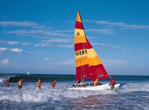 Sailing on a Hobie Cat, Eastern Cape