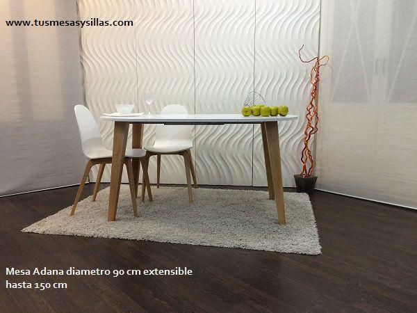 Las 25 mejores ideas sobre mesa redonda extensible en - Mesa redonda extensible 90 cms ...