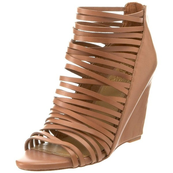 Vince Camuto Women's Zeplin Wedge Sandal ($78) ❤ liked on Polyvore