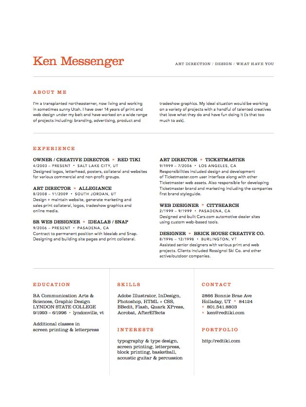ken messenger art director